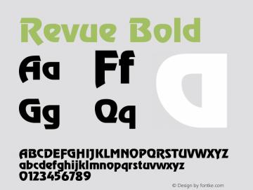 Revue Bold Version 001.001 Font Sample