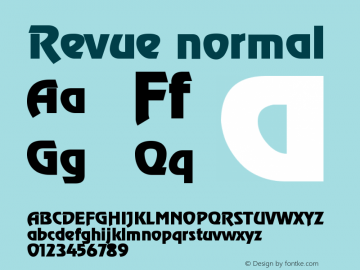 Revue normal Version 001.003 Font Sample