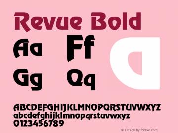Revue Bold Version 001.002 Font Sample