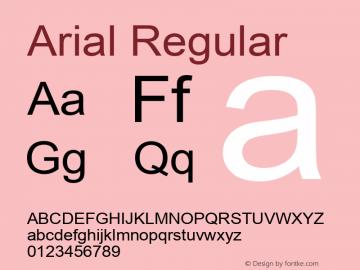 Arial W15 Regular Version 6.87图片样张