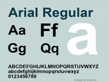Arial W10 Bold Version 6.87图片样张