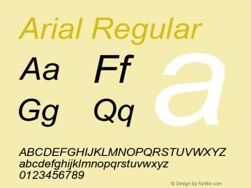 Arial W10 Italic Version 6.87图片样张