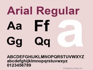 Arial W15 Bold Version 6.87图片样张