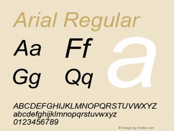 Arial W15 Italic Version 6.87图片样张