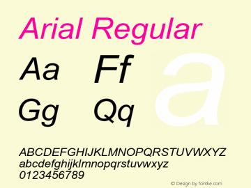 Arial W07 Italic Version 6.87图片样张