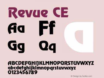 Revue CE Version 001.000 Font Sample