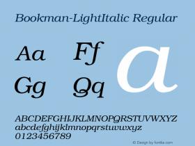 Bookman-LightItalic Regular Unknown图片样张
