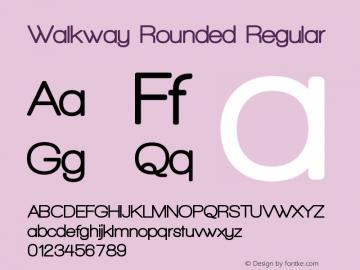 Walkway Rounded Regular 1.0 Font Sample