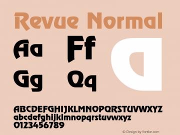 Revue Normal 1.0 Sat May 29 17:51:35 1993 Font Sample