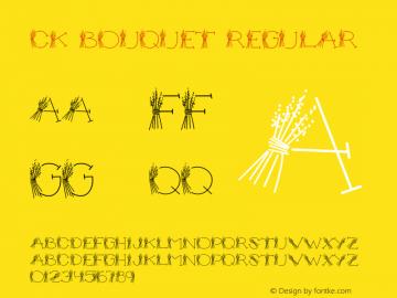 CK Bouquet Regular 5/26/00 Font Sample