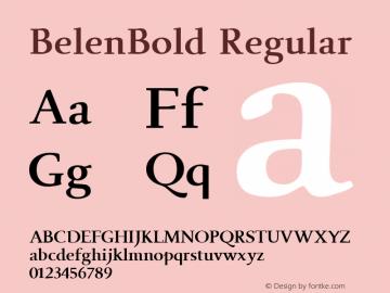 BelenBold W05 Regular Version 4.10图片样张