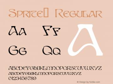 Sprite™ Regular Altsys Fontographer 4.0 10/30/94 Font Sample