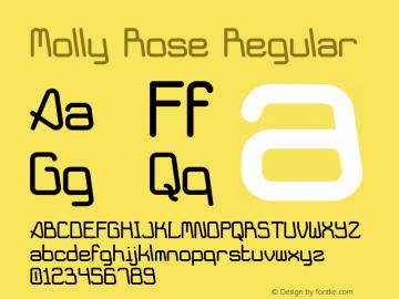 Molly Rose Regular Version 1.00 - 10/07/2001图片样张