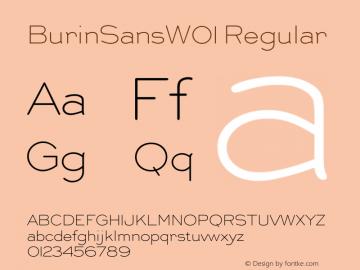 Burin Sans W01 Version 2.02图片样张