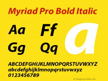 Myriad Pro Font,MyriadPro-BoldIt Font,Myriad Pro Bold Italic Font