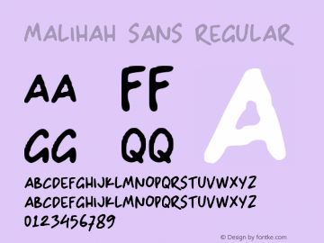 Malihah Sans Version 1.00;December 30, 2020;FontCreator 11.5.0.2430 64-bit图片样张