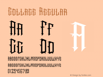 CottageRegular Version 1.001;Fontself Maker 3.5.4图片样张