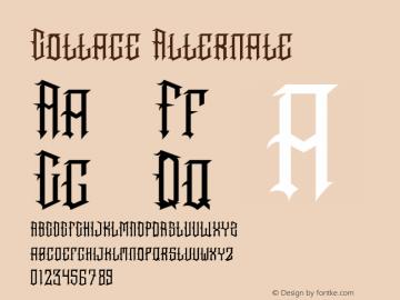 Cottage Version 1.001;Fontself Maker 3.5.4图片样张