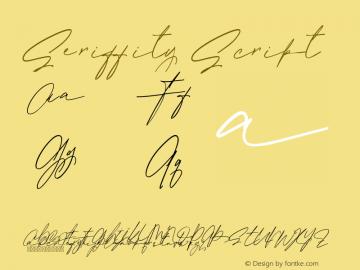 SeriffityScript Version 1.003;Fontself Maker 3.5.4图片样张