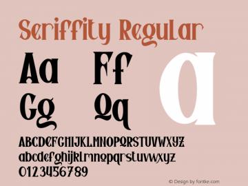Seriffity Version 1.003;Fontself Maker 3.5.4图片样张