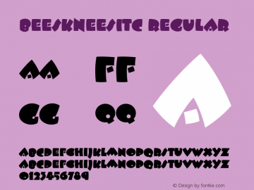 BeeskneesITC Regular Version 2.0 Font Sample