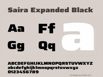 Saira Expanded Black Version 1.100图片样张