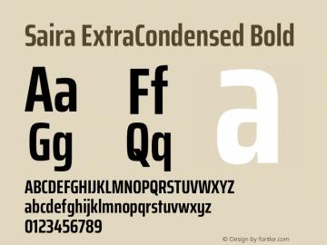 Saira ExtraCondensed Bold Version 1.100图片样张