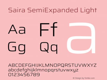 Saira SemiExpanded Light Version 1.100图片样张