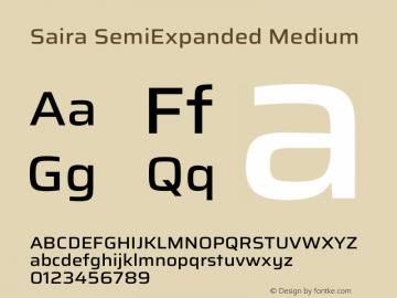 Saira SemiExpanded Medium Version 1.100图片样张