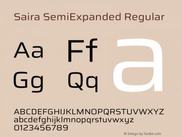 Saira SemiExpanded Regular Version 1.100图片样张