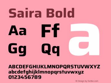 Saira Bold Version 1.100图片样张