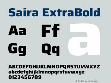 Saira ExtraBold Version 1.100图片样张