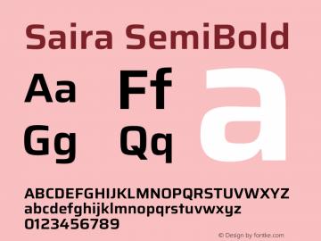 Saira SemiBold Version 1.100图片样张
