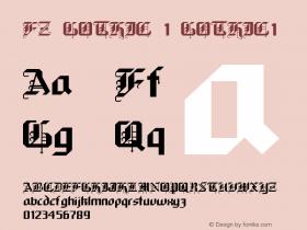 FZ GOTHIC 1 GOTHIC1 Version 1.000 Font Sample