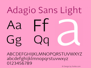 Adagio Sans Light 1.000图片样张