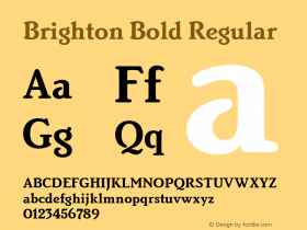 Brighton Bold Regular Version 2.0 Font Sample