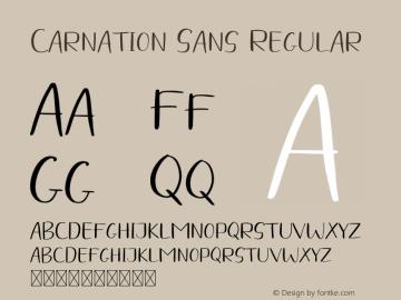 CarnationSans-Regular Version 1.001;Fontself Maker 3.5.4图片样张