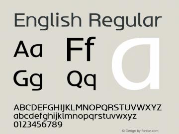 English W03 Regular Version 4.10图片样张