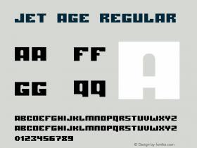 jet age Regular 2001; 1.1 Font Sample