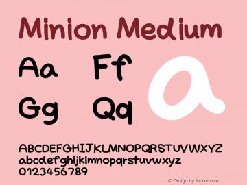 Minion Version 001.000 Font Sample
