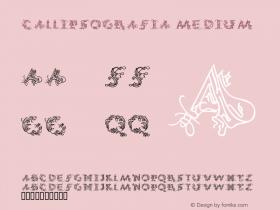 CalliPsoGrafia Medium Macromedia Fontographer 4.1.3 13.12.2001 Font Sample