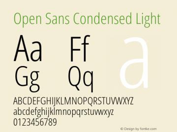 Open Sans Condensed Light Regular Version 1.10图片样张