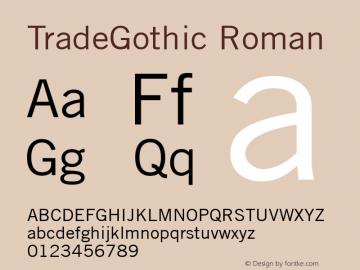 TradeGothic Version 1.00图片样张
