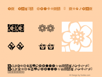 KR Kat's Flowers 2 Regular Macromedia Fontographer 4.1 12/18/01 Font Sample