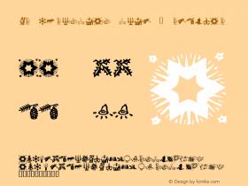 KR Christmas Time 2 Regular Macromedia Fontographer 4.1 12/18/01图片样张