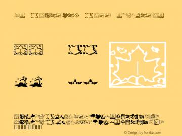 KR Fabulous Fall Regular Macromedia Fontographer 4.1 12/18/01图片样张