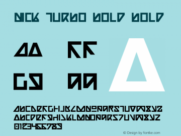 Nick Turbo Bold Bold 1 Font Sample