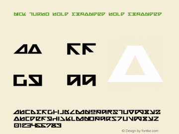 Nick Turbo Bold Expanded Bold Expanded 1图片样张