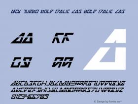 Nick Turbo Bold Italic Las Bold Italic Las 1图片样张