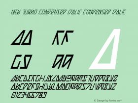 Nick Turbo Condensed Italic Condensed Italic 1图片样张